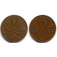 5 грошей 1935, Польша