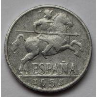 Испания, 10 сентимо 1953 г.