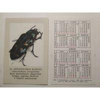 Карманный календарик. Жук . 1988 год