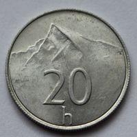 Словакия 20 геллеров, 1993 г.