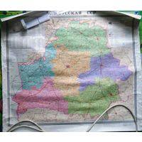 Большая карта БССР