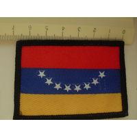 Нашивка. Венесуэла. Флаг.