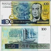 Бразилия 100 крузадо образца 1986 года UNC p211c