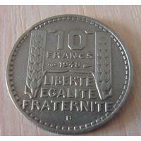 10 франков Франция 1948 г.в. В, KM# 909.2, 10 FRANCS, из коллекции