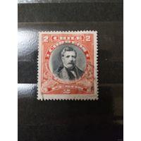 1911 Чили Доминго Санта Мария президент 1881-86 годы крупный номиеал(3-10)