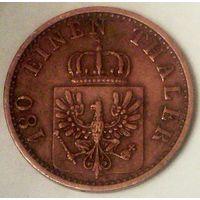 РАСПРОДАЖА!!! - ГЕРМАНИЯ ПРУССИЯ 2 пфеннига 1867 год