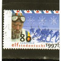 Нидерланды.Ми-1606. Спорт. Коньковый марафон.Серия: Elfstedentocht (коньки).1997.