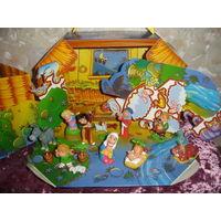 Киндер неполная серия 8 шт из 9 Рождество 2004г + диарама