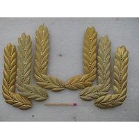 Эмблемы на петлицы на форму офицеров ВМФ СССР. цена за пару комплектных.