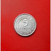 86-22 Белиз, 5 центов 2003 г.