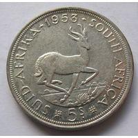 ЮАР 5 шиллингов 1953 - серебро 28,28 гр.