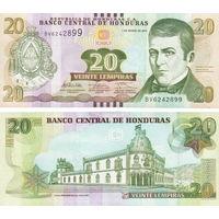Гондурас  20 лемпир    2014 год  UNC