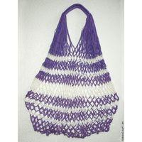 """Сетчатая сумка """"Фиолетово-белая"""""""