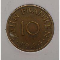 Саар 10 франков