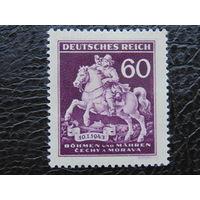 Германия. Рейх  1943 г. Богемия и Моравия.День почтовой марки.