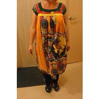 Платье в африканском стиле 100% хлопок, возможно для будущих мам
