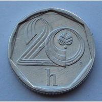 Чехия 20 геллеров. 1996