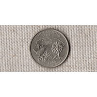 США 25 центов 2000 /квотер/Южная Каролина/фауна/(Ji)