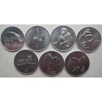 Северная Корея 1/2 чона 2002 г. Комплект 7 шт. (g)