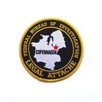 Шеврон легального военного атташе Федерального бюро расследований(ФБР) в г.Копенгаген, Дания (распродажа коллекции)