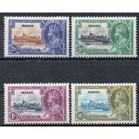 Король Георг V Мальта 1935 год чистая серия из 4-х марок