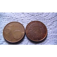 Эстония 5 евроцентов 2011г. распродажа