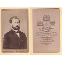 Кабинет-фото / Портрет мужчины, борода-усы / Hermann Bock, Berlin