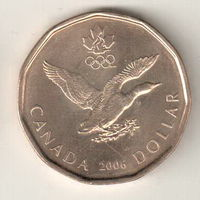 Канада 1 доллар 2006 Олимпиада Турин 2006