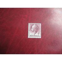 Марка королева Елизавета II 1957 год Австралия
