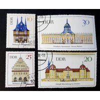 ГДР 1968 г. Архитектура, полная серия из 4 марок #0031-A1