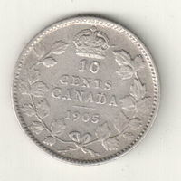 Канада 10 цент 1905