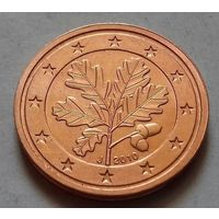 2 евроцента, Германия 2010 J, UNC