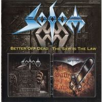 """CD- SODOM -"""" BETTER OFF DEAD""""+""""THE SAW IS THE LAW""""-1990-1991,AGAT COMPANY"""