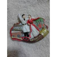 Магнит на холодильник. керамика. (Грузия. Тбилиси 5.). распродажа