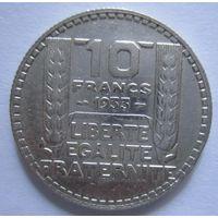 Франция. 10 франков 1933. Серебро .296