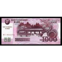 Северная Корея - 1000 Вон 2008Г. UNC.  РАСПРОДАЖА