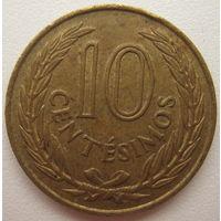 Уругвай 10 сентесимо 1960 г. (d)