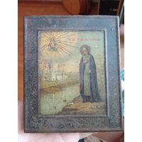 Икона старинная святая Анна, распродажа с рубля