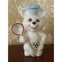 Олимпийский мишка повар с ложкой 13,5 см автор Шевченко Коростень