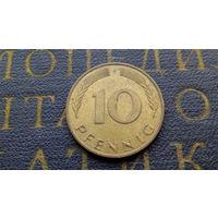 10 пфеннигов 1987 (F) Германия ФРГ #01