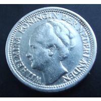 Нидерланды. 10 центов 1938. Серебро