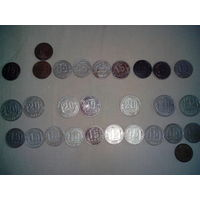 Монеты 15, 20 копеек, 1943-1981 гг.