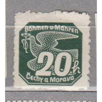 Германия Рейх  Протекторат Богемия и Моравия  Газетные марки  1939 год ИМЕЕТ ЧЕРТЫ ПЕРФОРАЦИИ