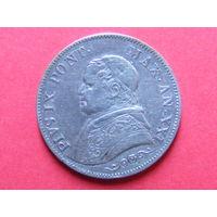 1 лира 1866 года