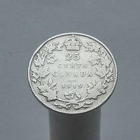 Канада 25 центов 1919
