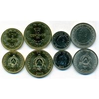 Гондурас 4 монеты(50 центаво 2007, 10,5,20 центаво  -2010)  UNC