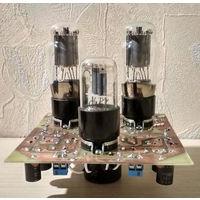 Плата лампового однотактного усилителя (DIY) 6Н9С+6П3С