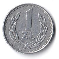 Польша. 1 злотый. 1982 г.