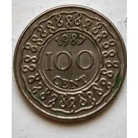 Суринам 100 центов, 1987 3-2-29