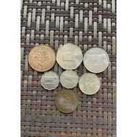 Гернси набор монет 7 шт 1956 - 1969 гг., без повторов